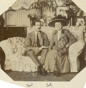 Daisy and Paul at Taverham Hall in September 1908
