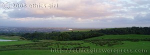 Evening view from Leaches Farm