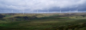 Wind turbines on Rooley Moor